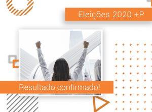 Resultado das Eleições 2020 +P é confirmado